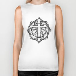 Mandala Temple Cross Biker Tank