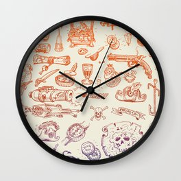 all hands on deck Wall Clock