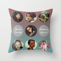 orphan black Throw Pillows featuring Orphan Black, Family by Your Friend Elle