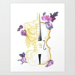 The Anatomy of Strings Art Print