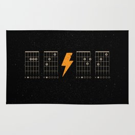 ACDC Back in Black Rug
