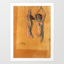 Nude Studies - Arthur Bowen Davies Art Print
