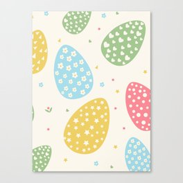 Easter Egg Stars Hearts and Flowers Canvas Print