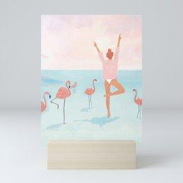 Big Flamingo Mini Art Print