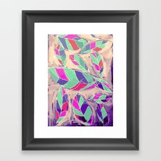 Lovely Leaves Drifting Down Framed Art Print