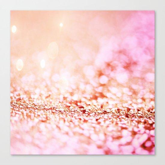 Pink shiny glitter - Sparkle Girly Valentine Backdrop on #Society6 Canvas Print