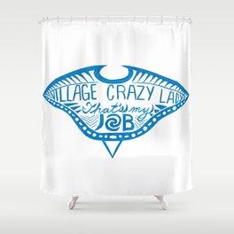 Village Crazy Lady Shower Curtain