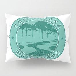Copacabana beach, green circle, Rio de Janeiro, Brazil Pillow Sham