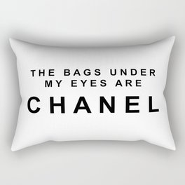 Designer eye bags Rectangular Pillow