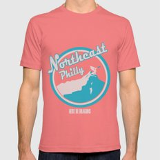 Northeast Philly Mens Fitted Tee Pomegranate X-LARGE