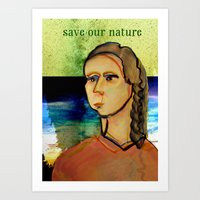 Save our nature Art Print
