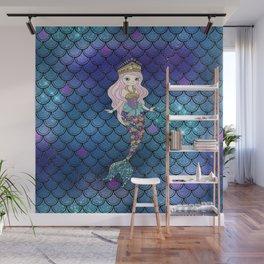 Princess of Sea   Glitter Mermaid Wall Mural