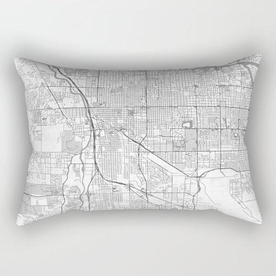 Tucson Map Line Rectangular Pillow