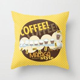 Málaga Coffee Throw Pillow