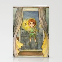 peter pan Stationery Cards featuring Peter Pan by Allyson Kelley