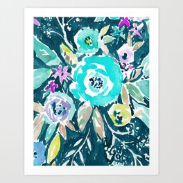 BEAUTY AND THE BADASS FLORAL Art Print