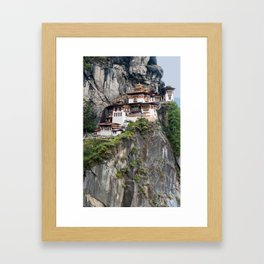 The Tiger's Nest Monastery - Bhutan Framed Art Print