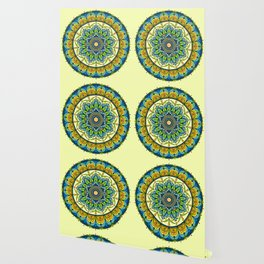 Vibrant colors mandala Wallpaper