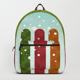 077 - Owly watches the first snow over the autumn poplar forest Backpack