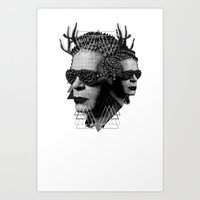 karl Art Prints featuring karl by DIVIDUS