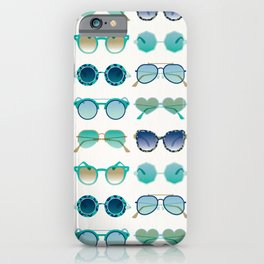 Sunglasses Collection – Turquoise & Navy Palette iPhone Case