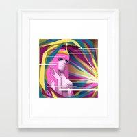 princess bubblegum Framed Art Prints featuring Princess Bubblegum by Kimball Gray