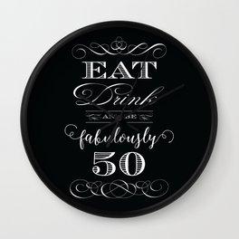 Fabulously Fifty Birthday Wall Clock