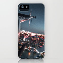 helicopter in london iPhone Case