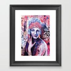Reine de glace Framed Art Print