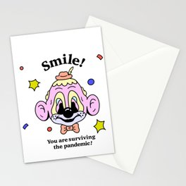 Smile, You are surviving the pandemic (No Background) Stationery Cards