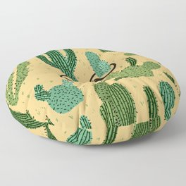 The Snake, The Cactus and The Desert Floor Pillow