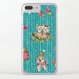 A Very Yorkie Christmas Clear iPhone Case