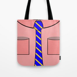 Pink shirt and tie Tote Bag