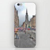 edinburgh iPhone & iPod Skins featuring Edinburgh by Christine Workman