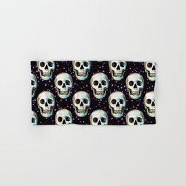 Gothic Skull and Stars Pattern Hand & Bath Towel