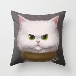 My White Cat Throw Pillow