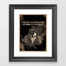 Rorschach from Watchmen Framed Art Print