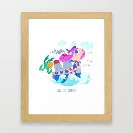 Enjoy the journey Framed Art Print