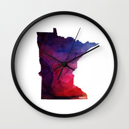 Minnesota State Wall Clock