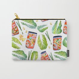 Kimchi Ingredients Spicy Fun Watercolor  Carry-All Pouch