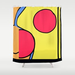 sunset in your face by pahagh Shower Curtain
