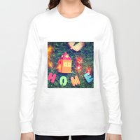 home sweet home Long Sleeve T-shirts featuring HOME by Julia Kovtunyak