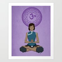 Korra Meditation - Crown Chakra Art Print