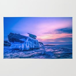 Frozen boat Rug