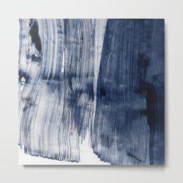 Navy Blue Abstract Painting EIGHTEEN Metal Print