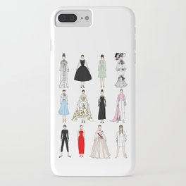 Outfits of Audrey Hepburn Fashion (White) iPhone Case