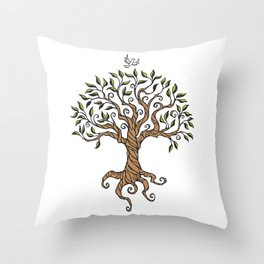 Shirley's Tree Colored Throw Pillow