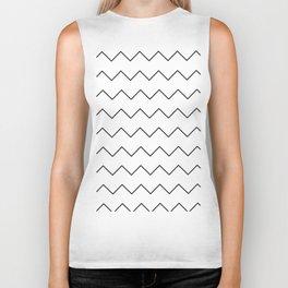 Black white geometrical minimalist chevron Biker Tank