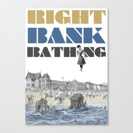 Right bank bathing Canvas Print
