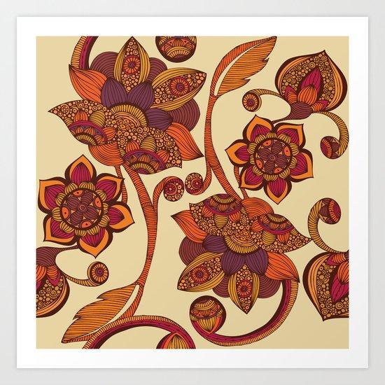 Boho Flowers Art Print